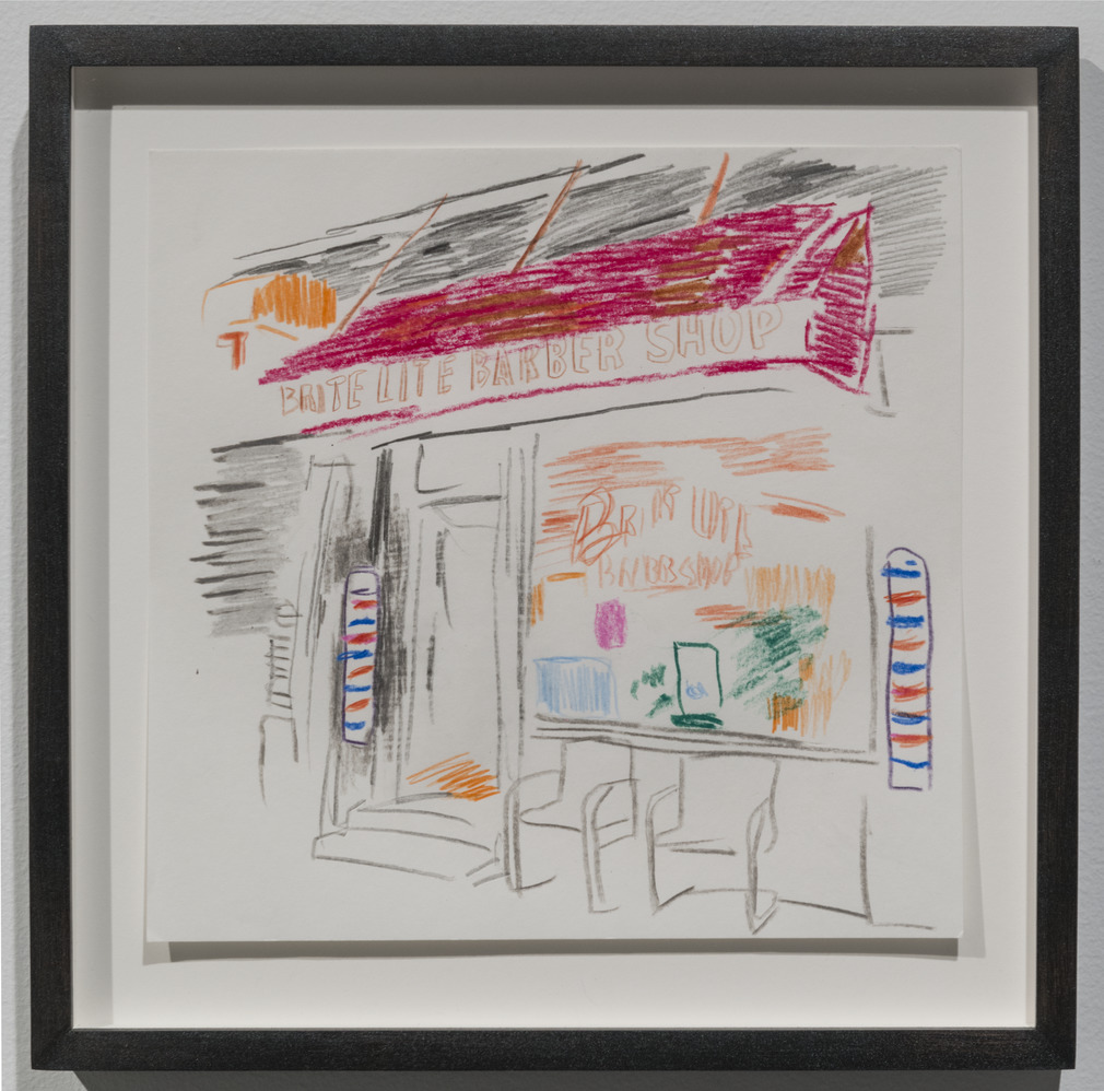 Wardell Milan  - Drawings of Harlem; Lite Brite Barber Shop