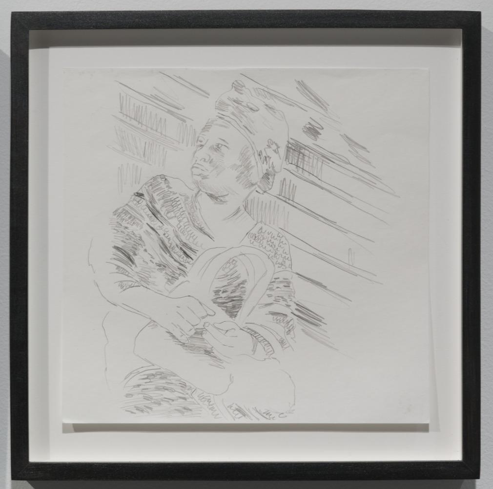 Wardell Milan - Drawings of Harlem: Woman Sitting on 125th Street