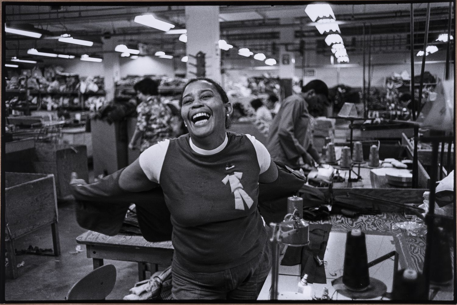 Carrie Mae Weems - Mom at Work (from the